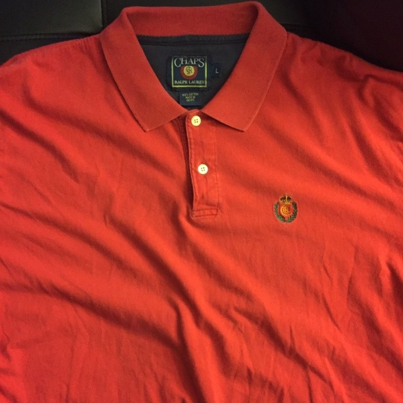 5eaa66a96a4c Chaps By Ralph Lauren Shirts | Vintage Red Polo Rugby Sz L | Poshmark